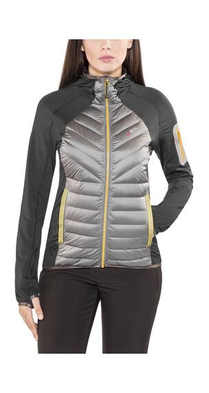 Yeti Tay Hybrid Down Hoodie Jacket Women Antracite/Gull Grey